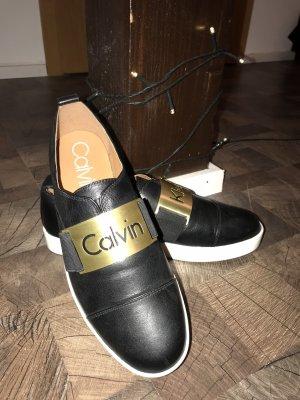 Calvin Klein Scarpa slip-on nero-oro