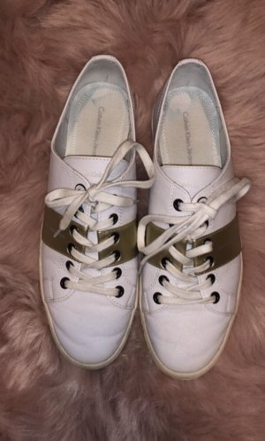 quality design f48e2 bd033 Calvin Klein Jeans Lace-Up Sneaker white-gold-colored