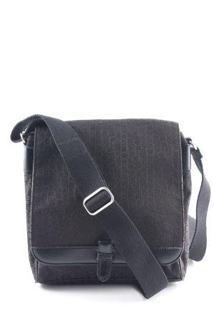 Calvin Klein Schultertasche schwarz Monogram-Muster Business-Look