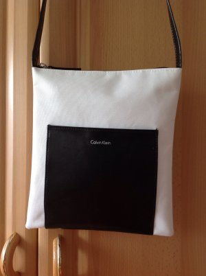 Calvin Klein Borsa a spalla nero-bianco Finta pelle