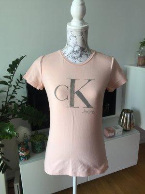 Calvin Klein Shirt Gr S/M 38 rosa grau NEU