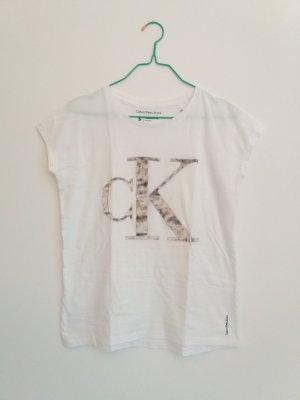 Calvin Klein Shirt mit Samtlogo Gr. S