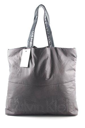 Calvin Klein Shopper schwarz Schriftzug gestickt minimalistischer Stil
