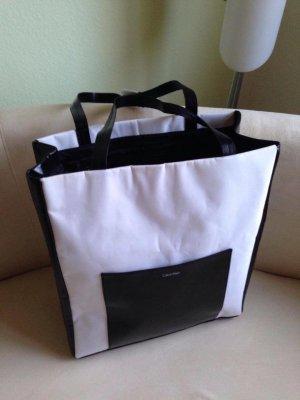Calvin Klein Shopper Tasche weiss/schwarz NEU!