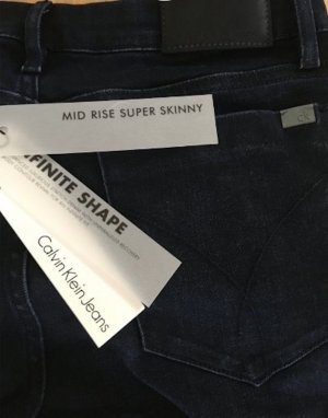 CALVIN KLEIN Slim Fit Skinny Jeans marine dunkel blau NEU Gr. 27/ 32