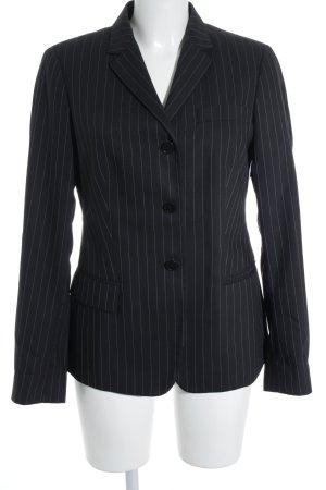 Calvin Klein Smoking-Blazer wollweiß-schwarz Nadelstreifen Business-Look
