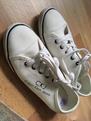 Calvin Klein Basket à lacet blanc