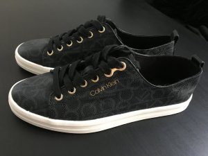 Calvin Klein Lace-Up Sneaker black-gold-colored