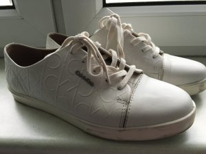Calvin Klein Lace-Up Sneaker white-natural white leather