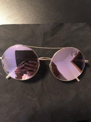 Calvin Klein Ronde zonnebril roségoud
