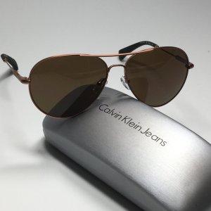 Calvin Klein Jeans Aviator Glasses bronze-colored