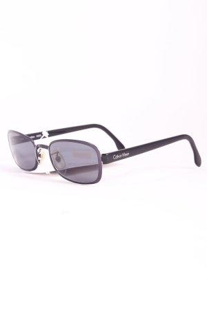 Calvin Klein Sonnenbrille schwarz-blau Casual-Look