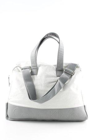 Calvin Klein Sporttasche hellbeige-grau schlichter Stil
