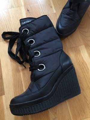 Calvin Klein Lace-up Boots black