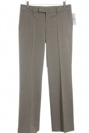 Calvin Klein Stoffhose hellgrau-graubraun Streifenmuster Business-Look