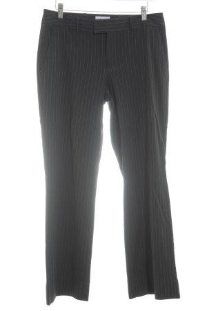 Calvin Klein Pantalon en jersey noir-gris motif rayé style d'affaires