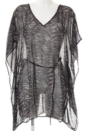 Calvin Klein Strandbekleidung schwarz-graubraun Animalmuster Animal-Look