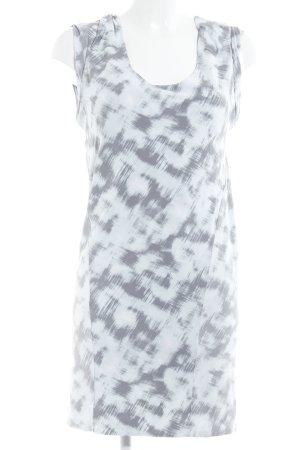Calvin Klein Stretchkleid grau-babyblau abstraktes Muster Casual-Look