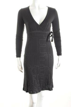 Calvin Klein Stretchkleid schwarz-silberfarben schlichter Stil