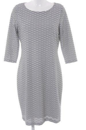Calvin Klein Stretchkleid wollweiß-schwarz abstraktes Muster