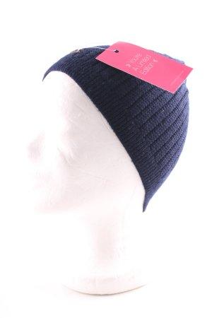 Calvin Klein Chapeau en tricot bleu style décontracté