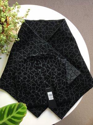 Calvin Klein Sciarpa lavorata a maglia nero-grigio Poliestere