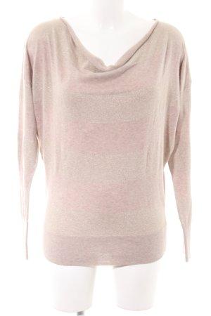 Calvin Klein Strickpullover creme-pink Streifenmuster Casual-Look