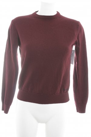 Calvin Klein Strickpullover bordeauxrot Casual-Look