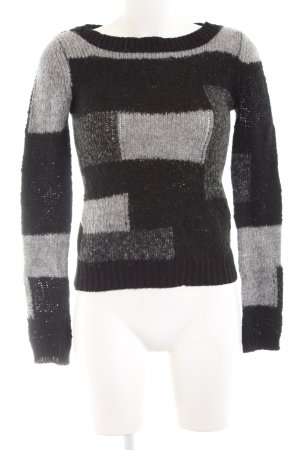 Calvin Klein Strickpullover schwarz-hellgrau Casual-Look