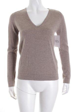 Calvin Klein Strickpullover hellbraun minimalistischer Stil