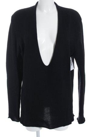 Calvin Klein Strickpullover schwarz schlichter Stil