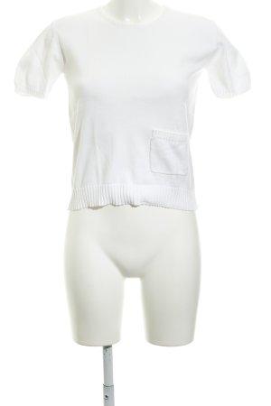 Calvin Klein Strickshirt wollweiß Casual-Look