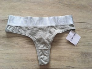 Calvin Klein Bas gris clair-argenté tissu mixte