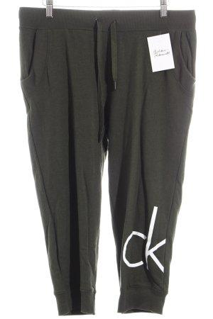 Calvin Klein Sweathose dunkelgrün Casual-Look