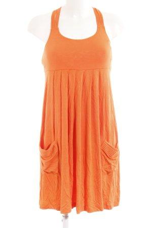 Calvin Klein Sweat Dress neon orange casual look
