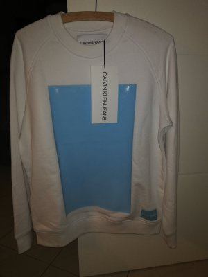 Calvin Klein Sweat Shirt white-light blue
