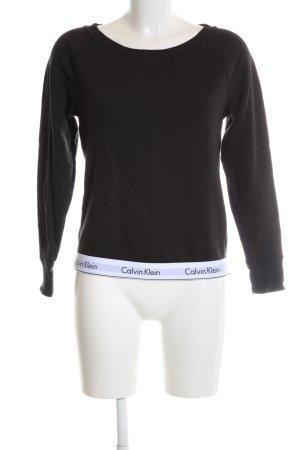 Calvin Klein Sweatshirt schwarz-weiß Casual-Look