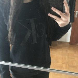 Calvin Klein Sweatshirt Dunkelblau Gr. S-M
