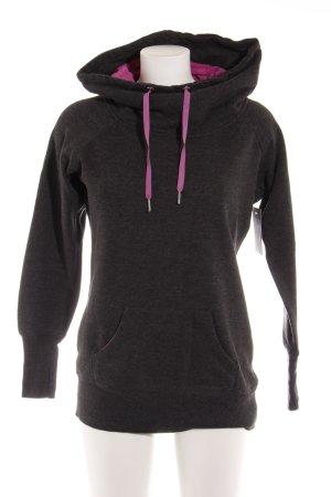 Calvin Klein Sweatshirt dunkelgrau-lila Casual-Look