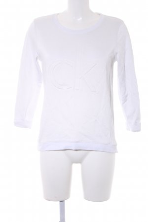 Calvin Klein Sweatshirt weiß Casual-Look