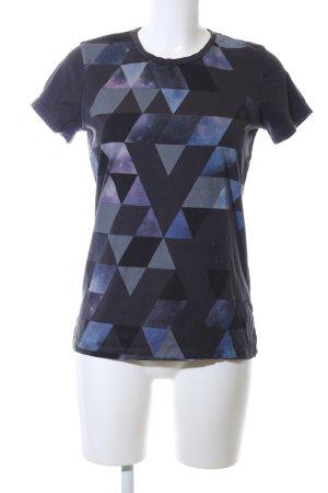 Calvin Klein T-Shirt blau-lila grafisches Muster Casual-Look
