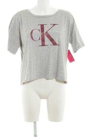 Calvin Klein T-Shirt grau Casual-Look