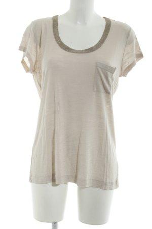 Calvin Klein Camiseta beige claro-color oro estilo sencillo