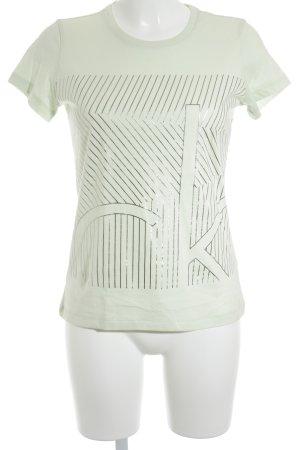 Calvin Klein T-Shirt hellgrün Casual-Look