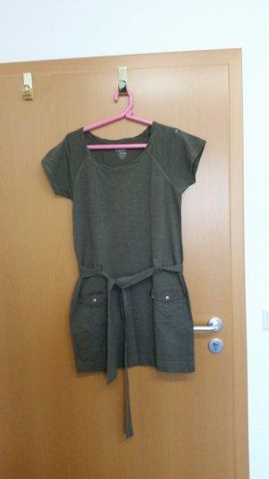 Calvin Klein T-Shirt Kleid mit Gürtel Gr. S oliv
