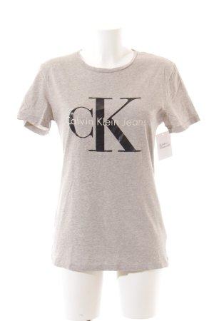 Calvin Klein T-Shirt platzierter Druck Casual-Look