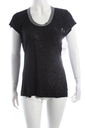 Calvin Klein T-Shirt schwarz Metallic-Optik