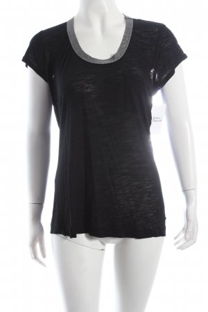 Calvin Klein T-Shirt schwarz Metallic-Optik