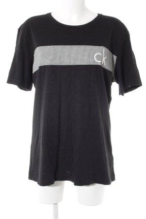 Calvin Klein Camiseta negro-blanco letras impresas look casual