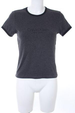 Calvin Klein T-Shirt taupe-schwarz Schriftzug gedruckt Casual-Look